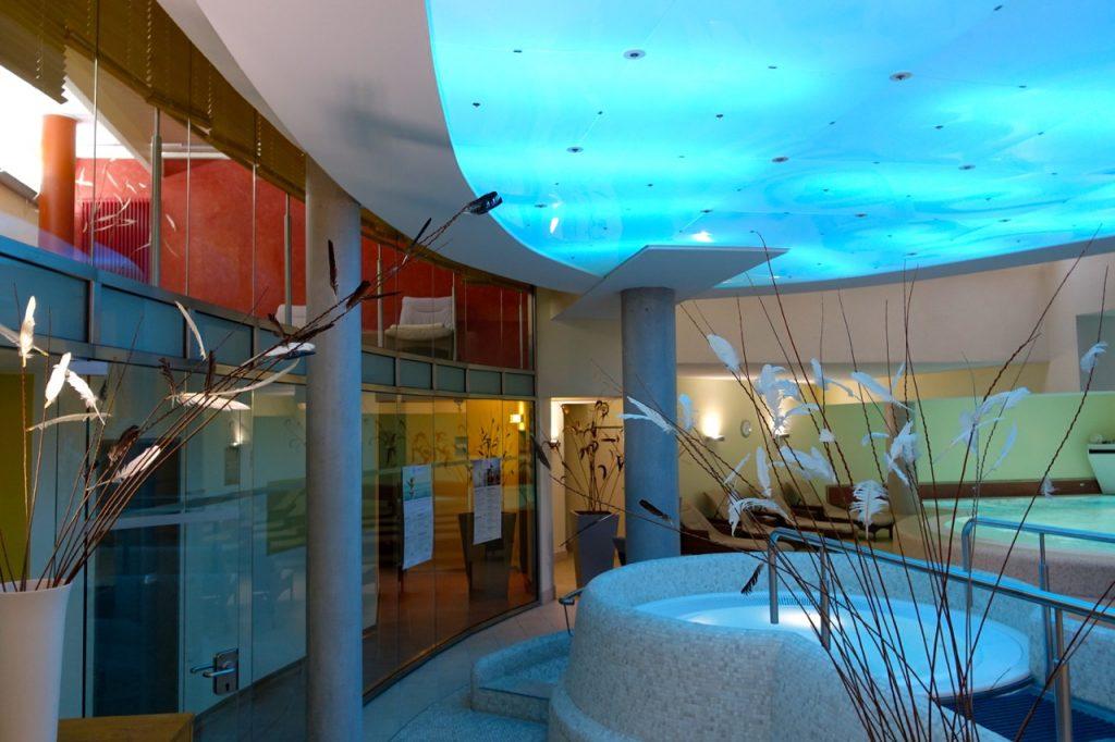 Blick in den Wellnessbereich Hotel Meersinn