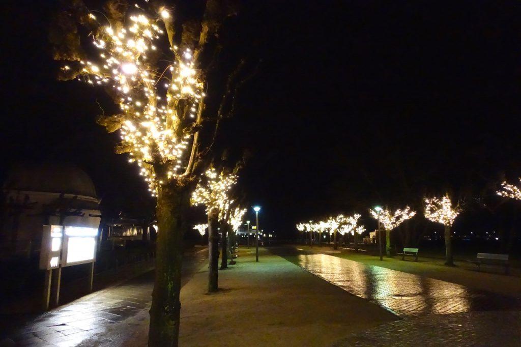 Travemünde Promenade bei Nacht