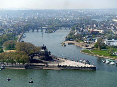 Aussicht Koblenz aus der Seilbahn