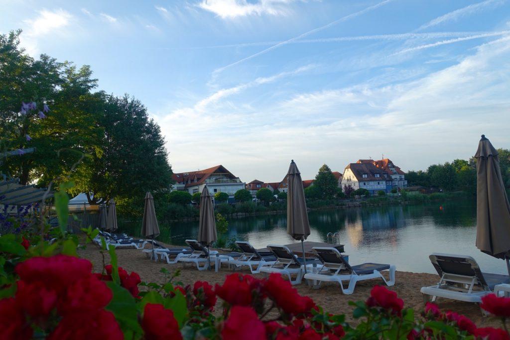 Seehotel Niedernberg zum Sonnenuntergang