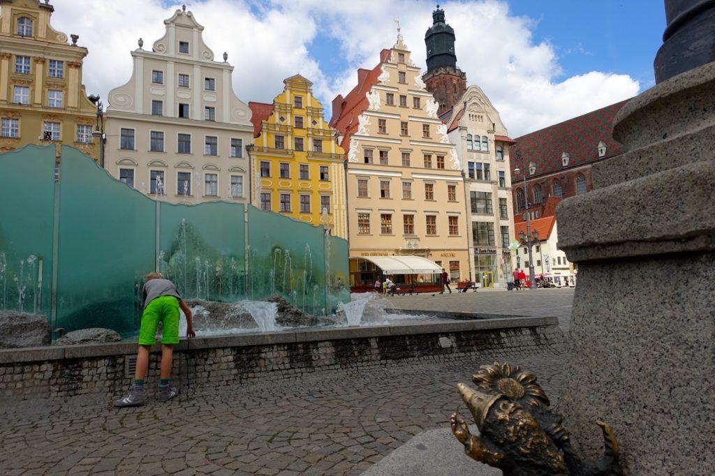 Brunnen auf dem Marktplatz Breslau