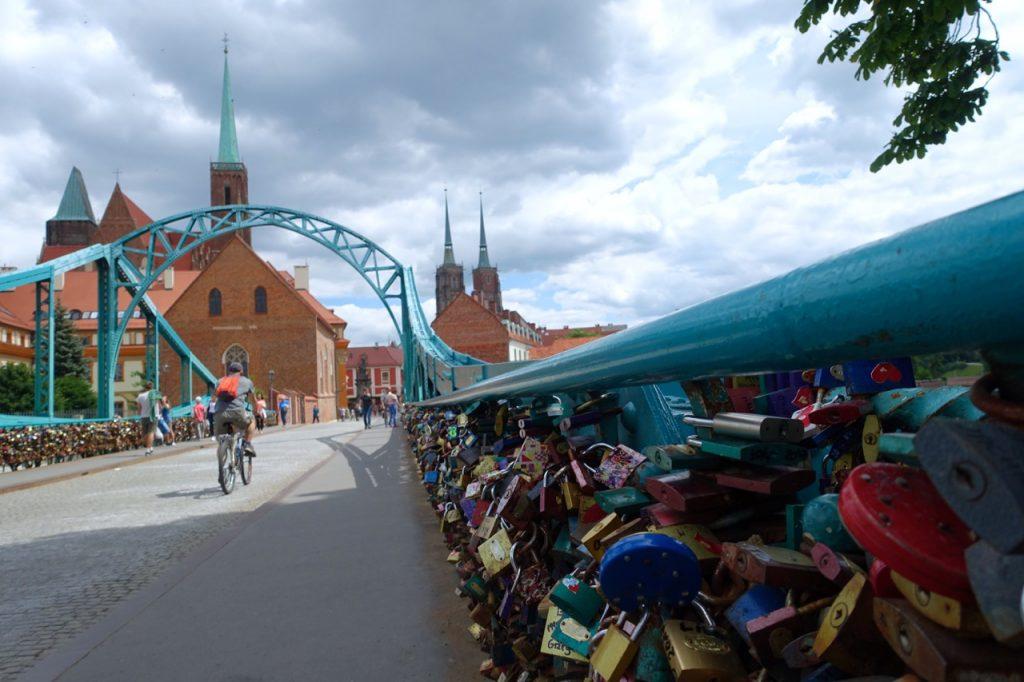 Brücke der Verliebten Breslau - Dombrücke Breslau