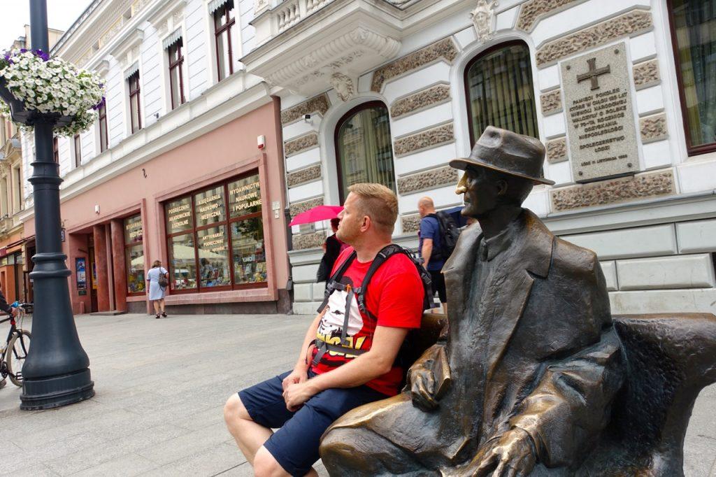 Viele Dichter und Denker haben einen Platz in Lodz gefunden