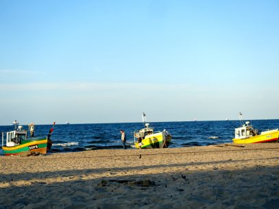 Am Strand von Sopot Danzig