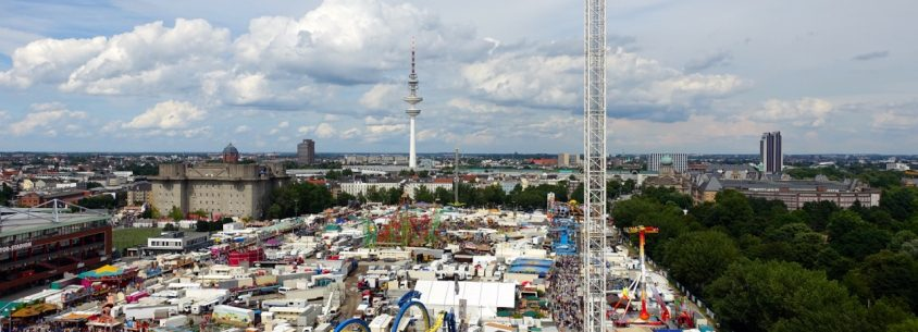 Ausblick aus dem Riesenrad - Hamburger Dom