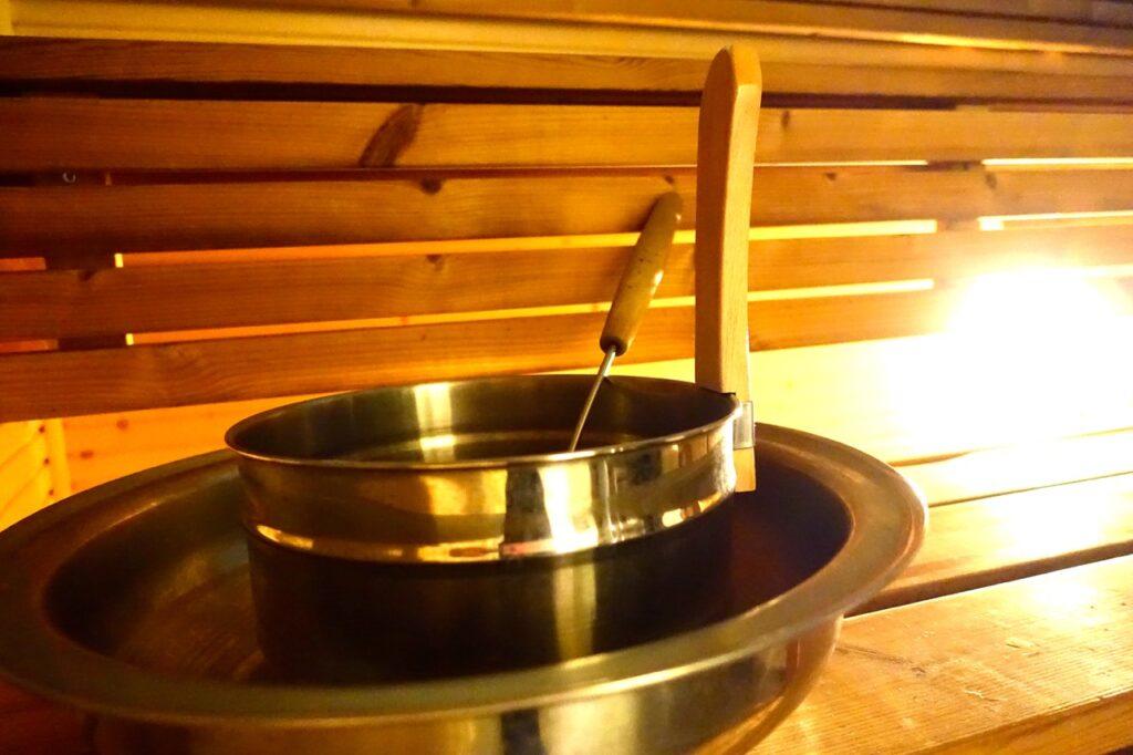 Sauna im Ferienhaus am Saimaa See