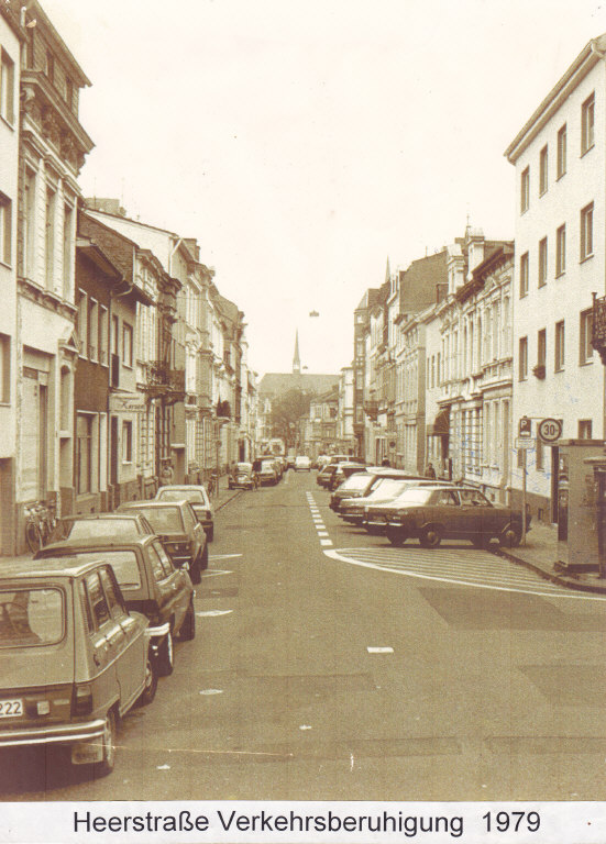 Heerstraße 1979 vor der Umgestaltung