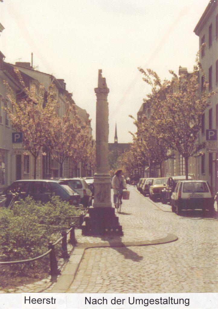 Heerstraße nach der Umgestaltung