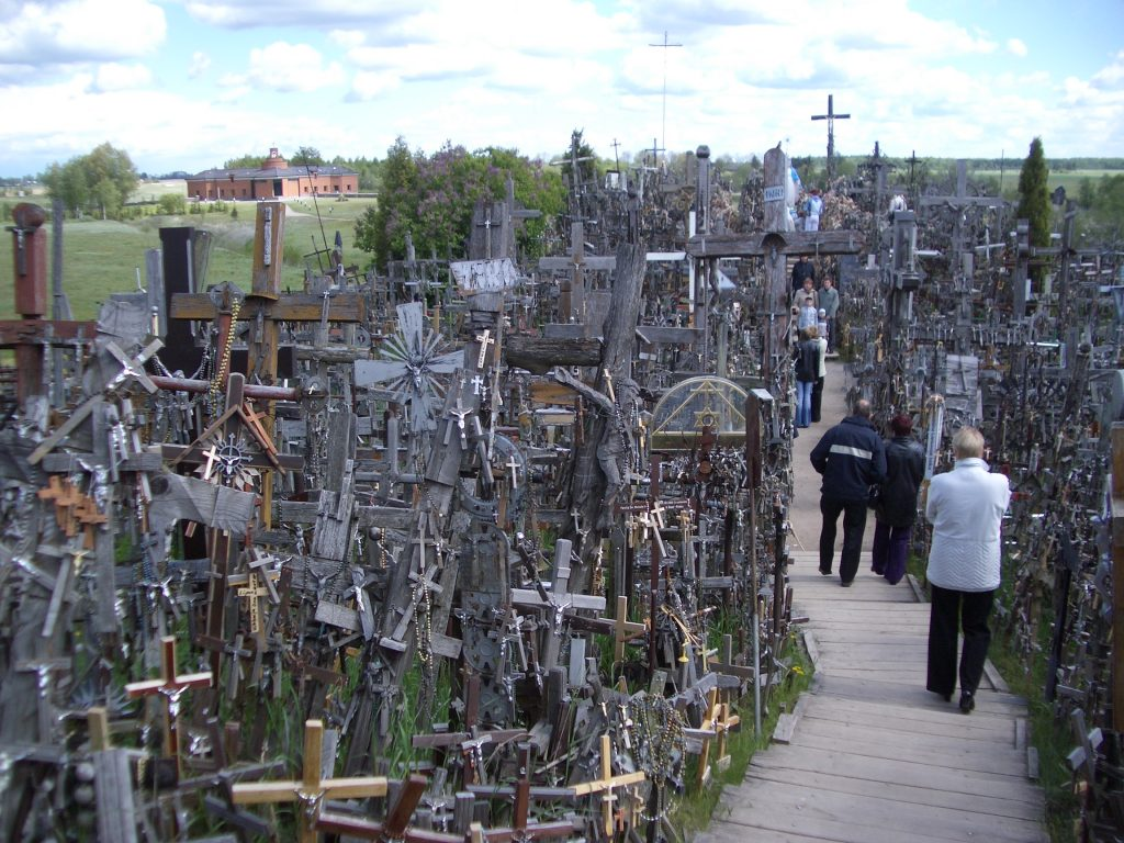 Berg der Kreuze in Litauen - 2004