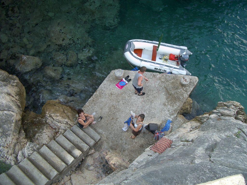 Kroatien-Urlaub 2003 - unsere geheime Badebucht bei Dubrovnik