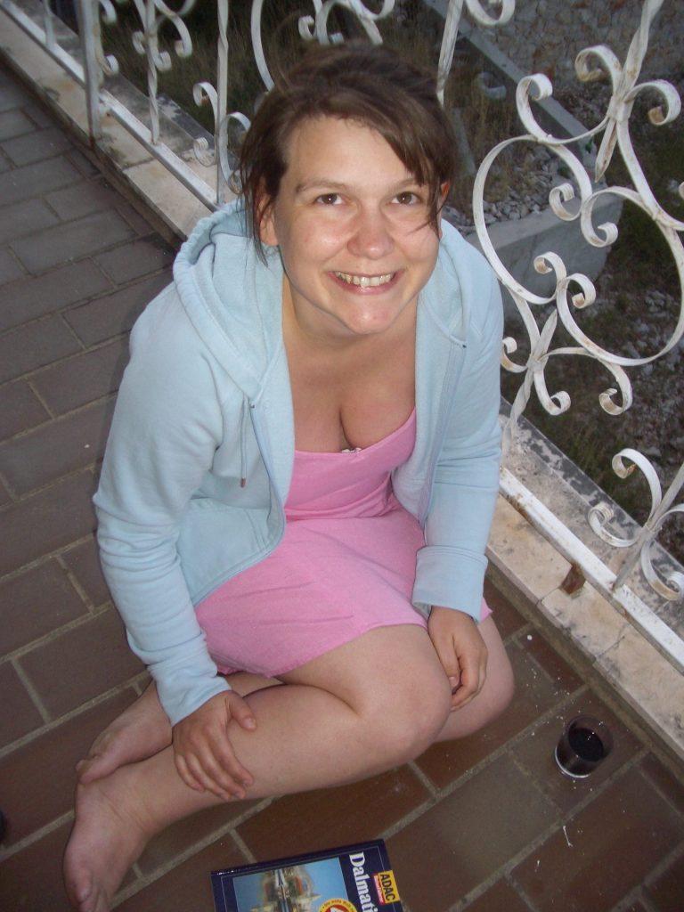 Kroatien Ferienhaus - auf dem Balkon unserer Behausung 2005