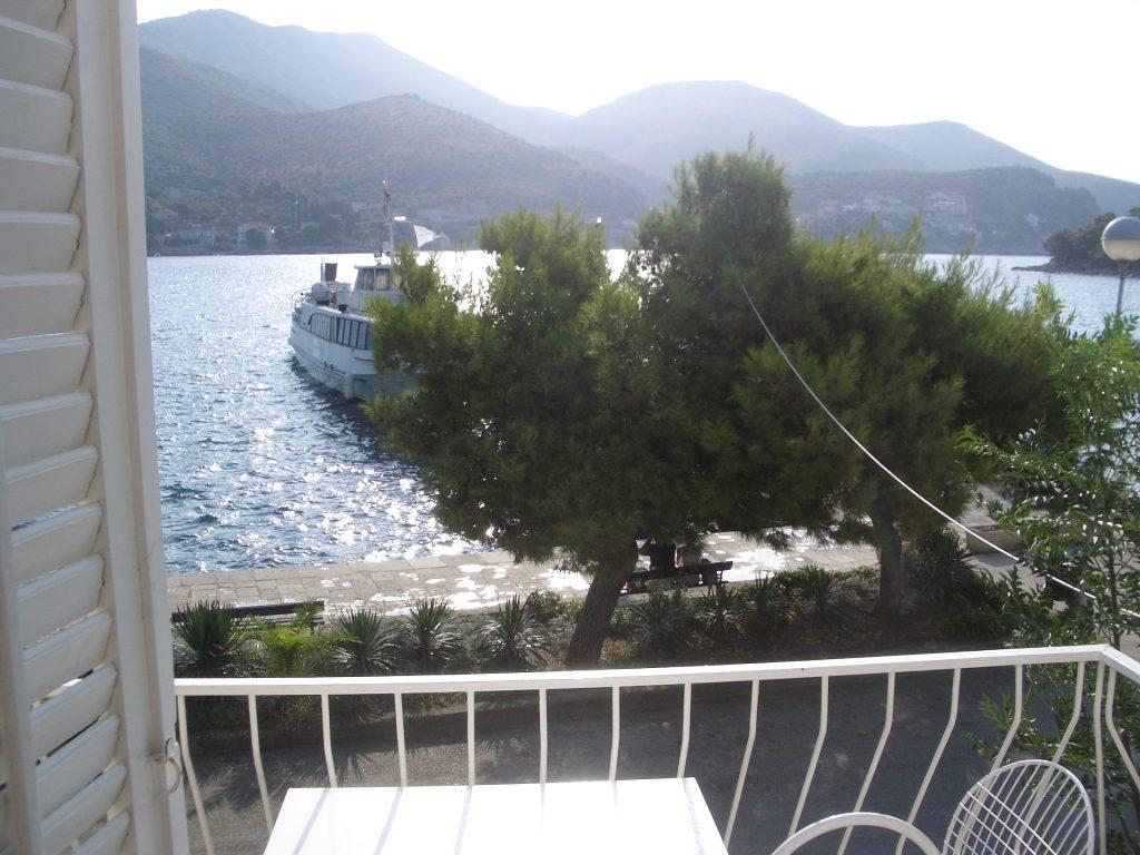 Kroatien Ferienhaus - Blick aus der Ferienwohnung in Zaton 2007