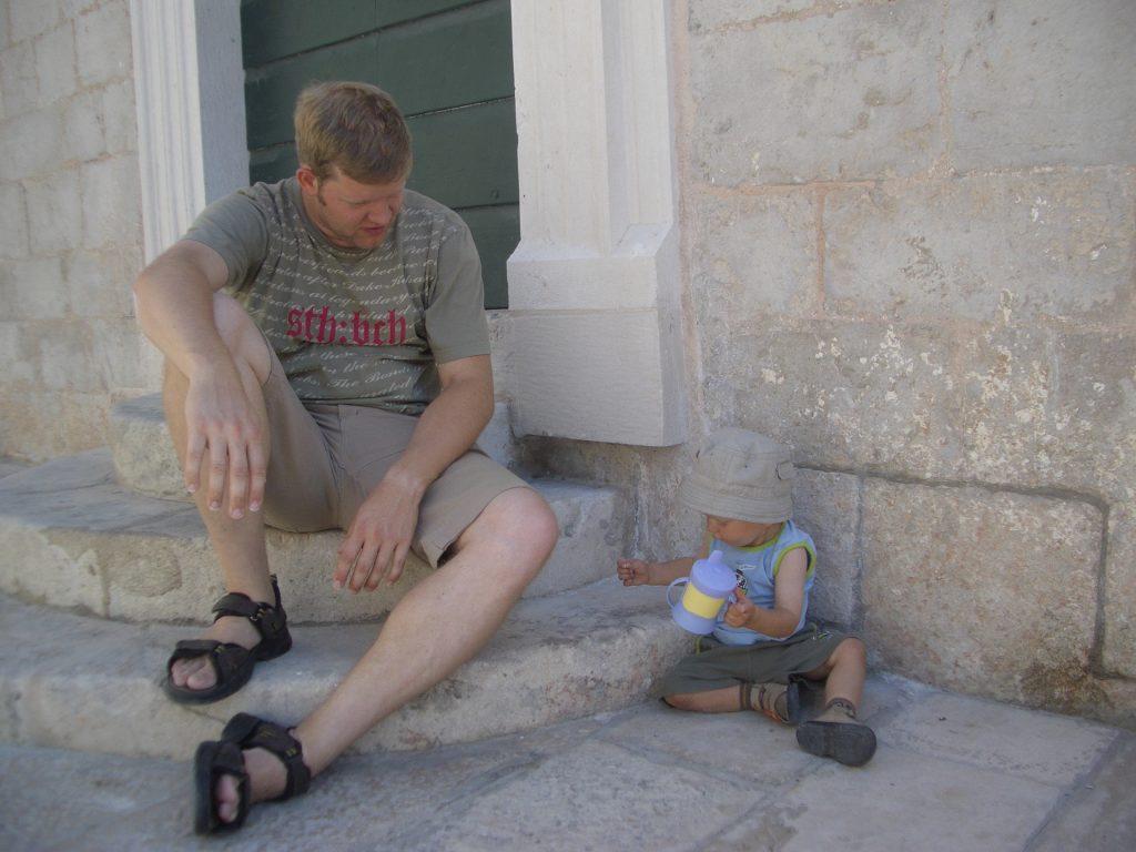 Kroatien-Urlaub - In den Straßen von Dubrovnik Altstadt 2007