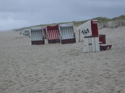 Am Strand auf Sylt