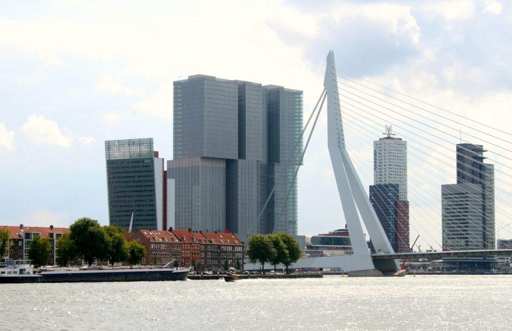 Rotterdam Skyline Erasmus Bruecke