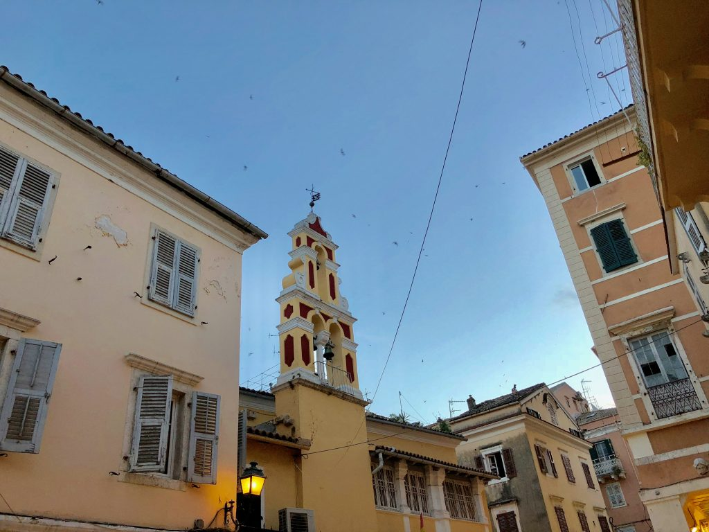 Korfu Urlaub - Gute Nacht aus Korfu Stadt