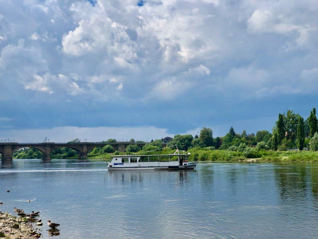 Schippern auf der Elbe
