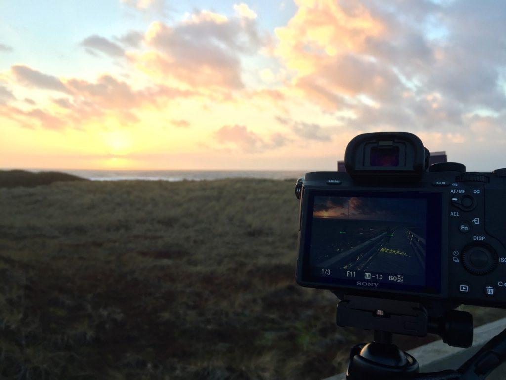 Sonnenuntergang Sylt - am roten Kliff