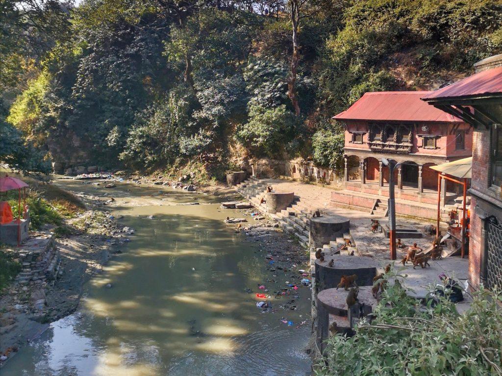 In der Nähe des Pashupatinath Tempels, Kathmandu