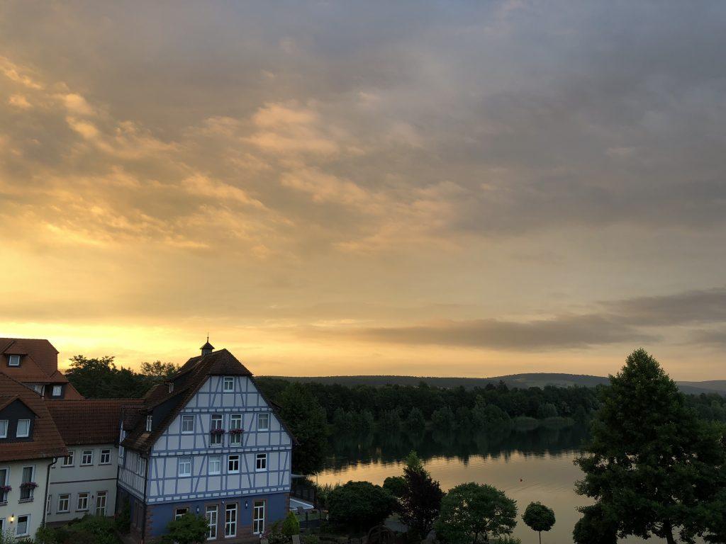 Seehotel Niedernberg Sonnenaufgang