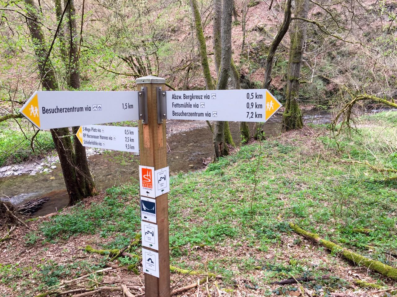 Wanderweg Geierlay verschiedene Varianten