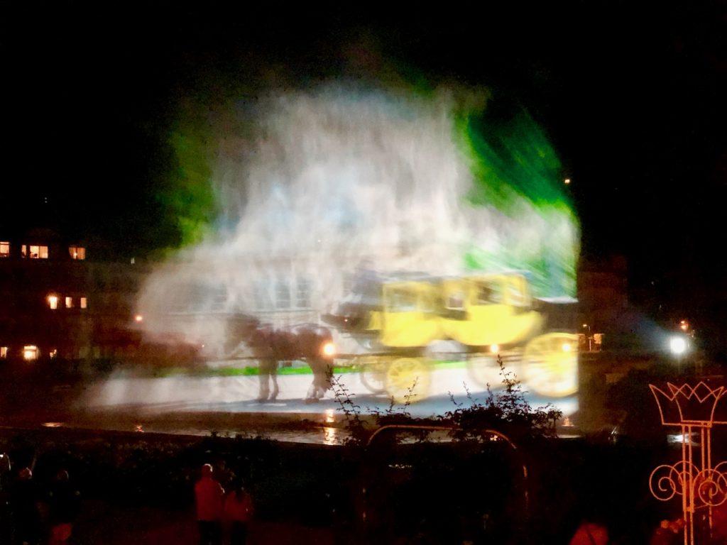 Show am Multimedia Brunnen Bad Kissingen im Rosengarten