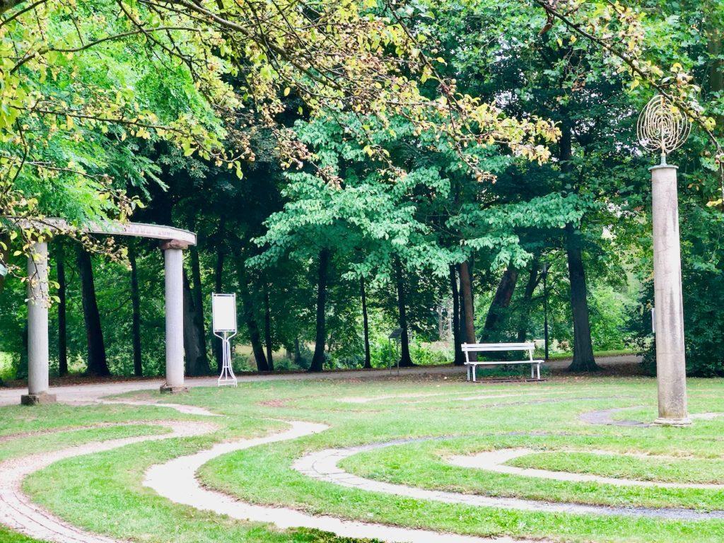Barfußlabyrinth Bad Kissingen im Luitpoldpark