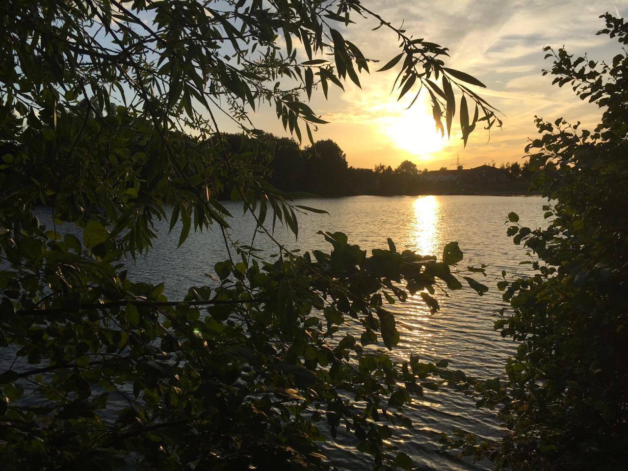 Sonnenuntergang Seehotel Niedernberg Dorf am See
