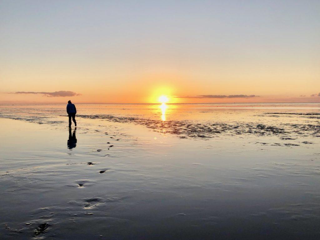 Sonnenuntergang Cuxhaven Sahlenburg