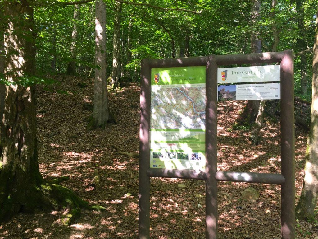 Start meiner Wanderung auf dem Rheinburgenweg