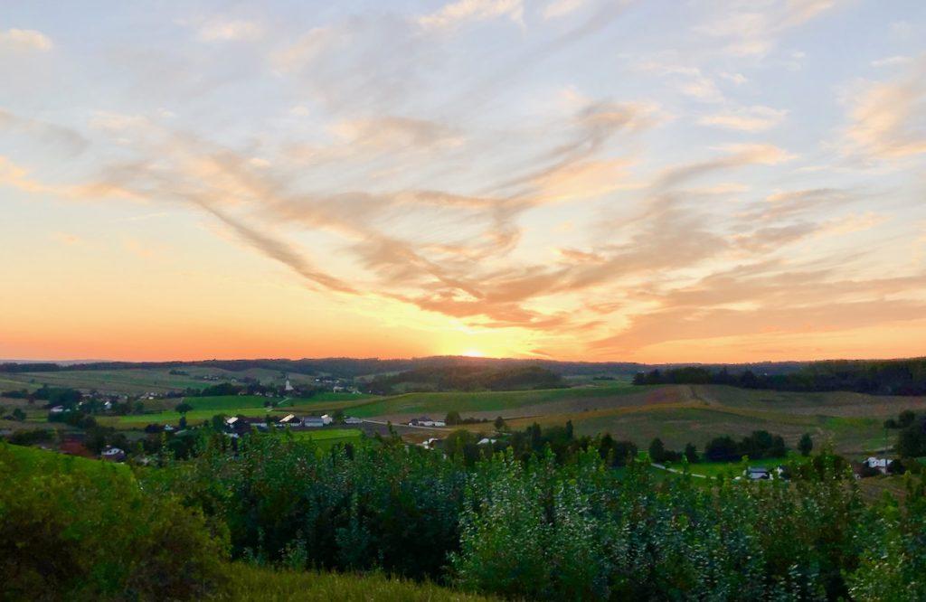 Sonnenuntergang Bayerisches Golf und Thermenland