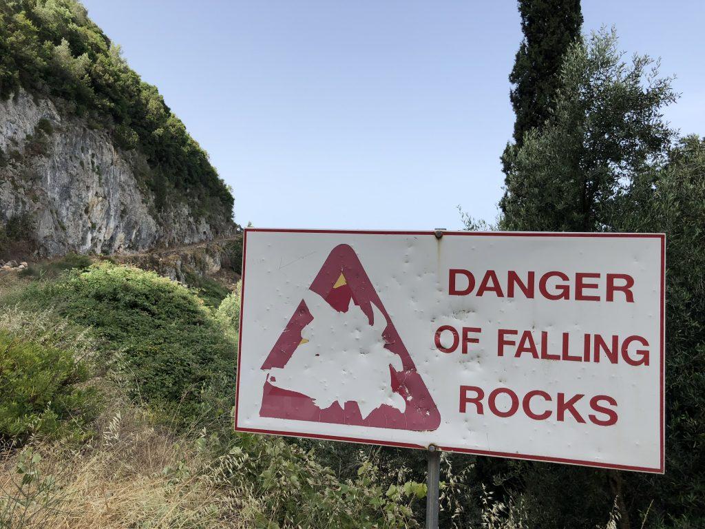 Augen auf auf dem Korfu Trail
