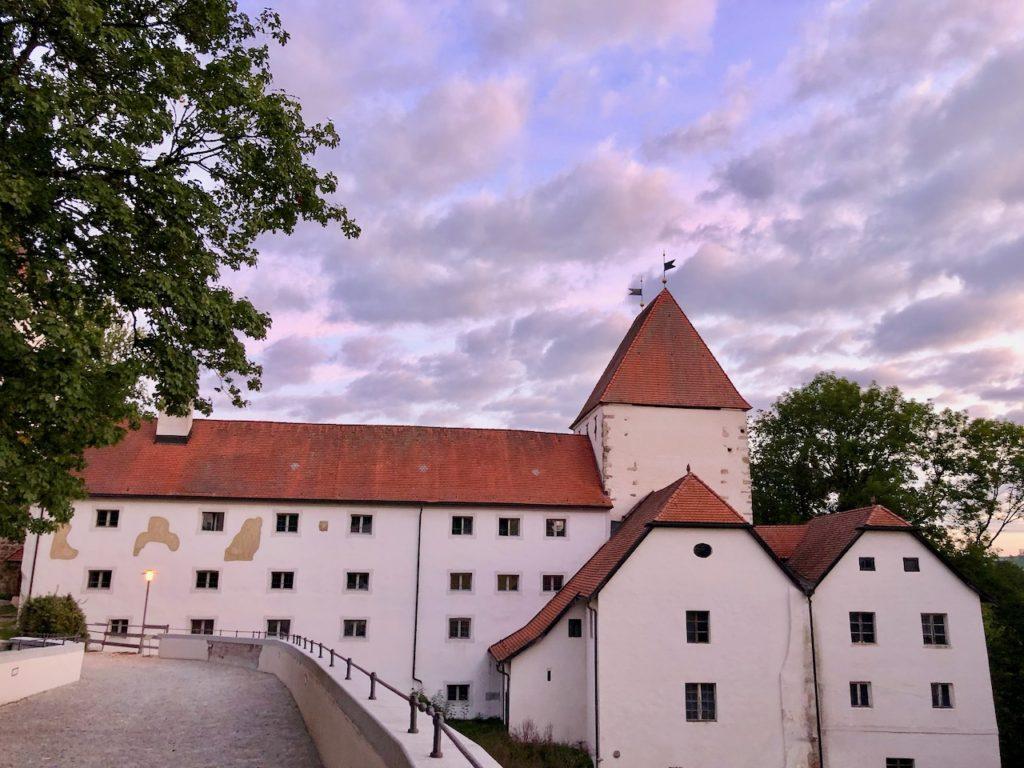Sonnenaufgang Schloss Neuburg