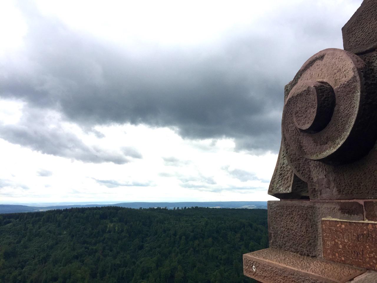 Aussicht vom Kyffhaeuser Denkmal
