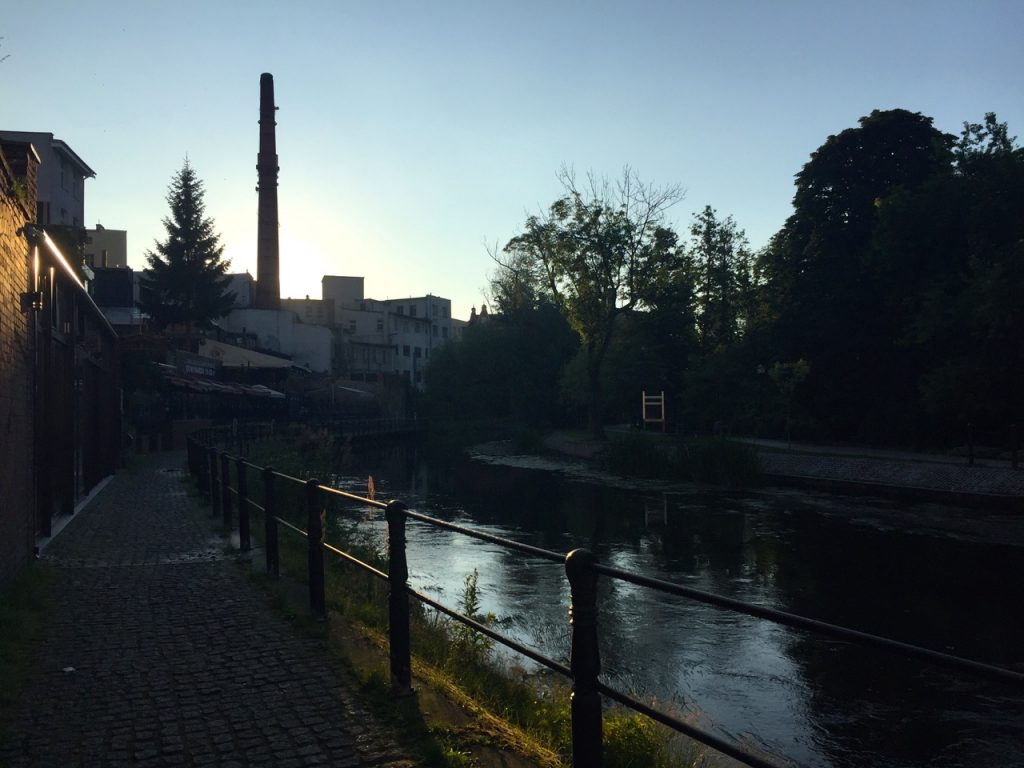 Bromberg Sommertag - die letzten Sonnenstrahlen
