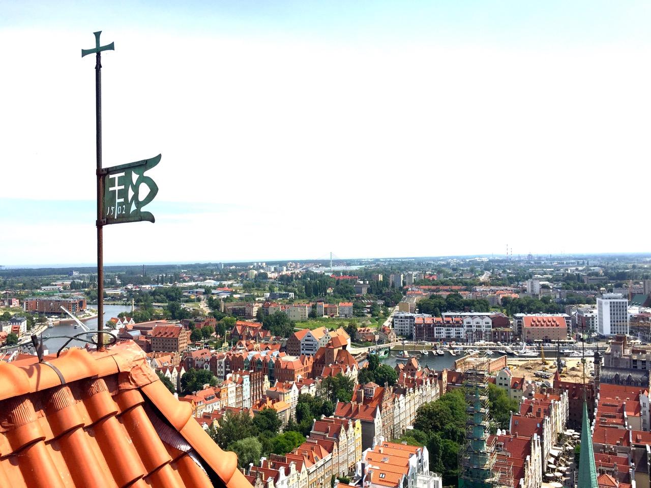 Danzig Reisetipp – Danzig von oben: Blick vom Kirchturm