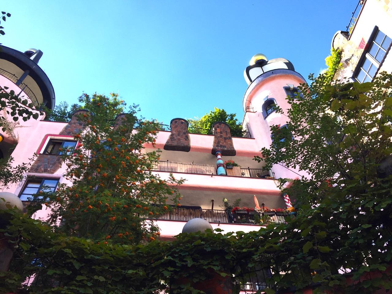 Hundertwasserhaus Magdeburg Perspektive