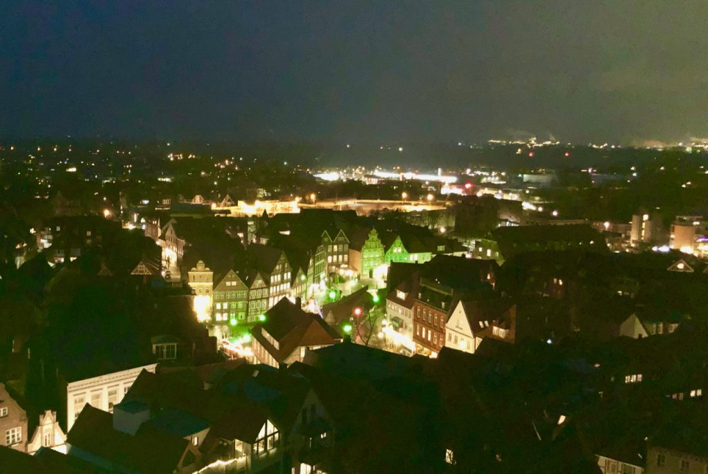 Stade Weihnachtsmarkt Aussicht bis Hamburg