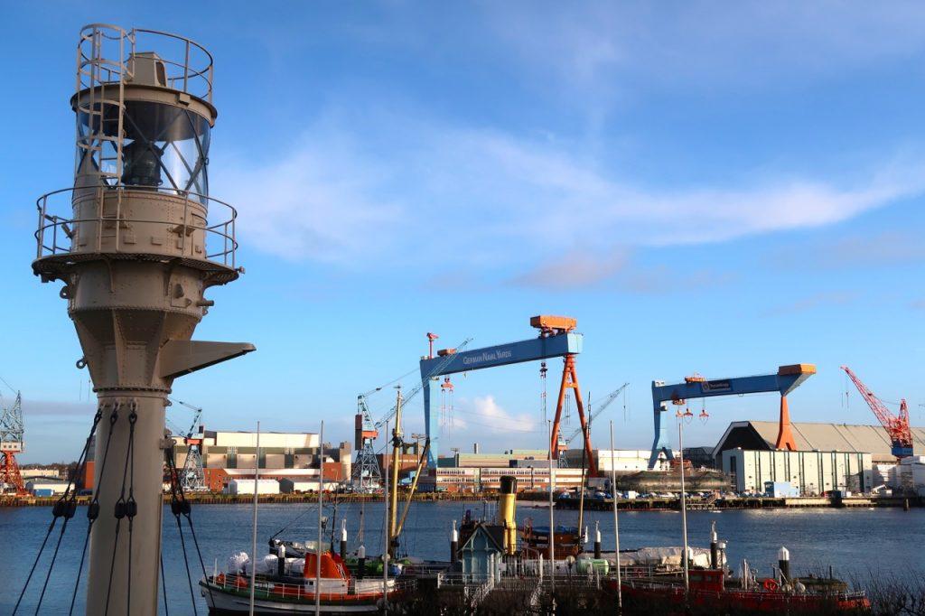 Blick auf den Hafen Kiel