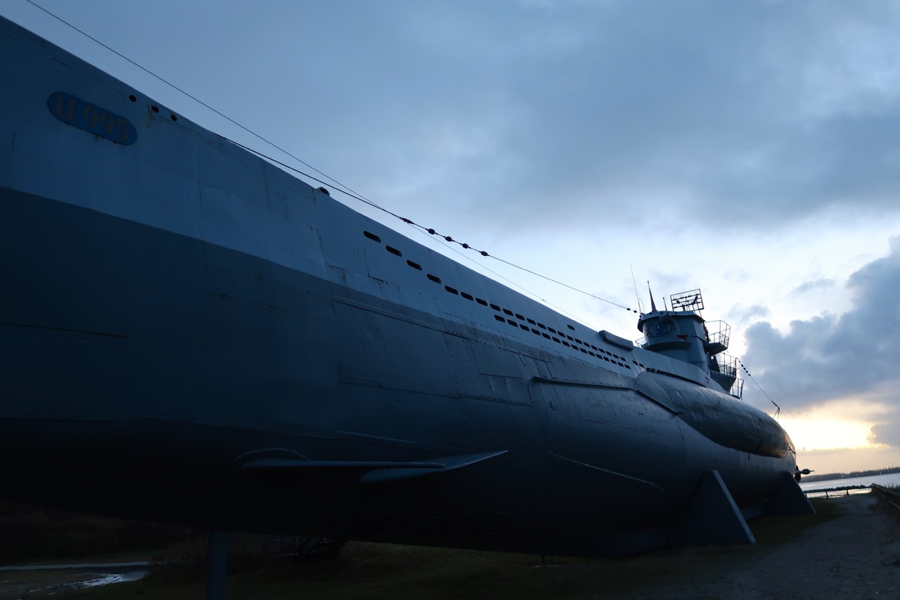 Sonnenuntergang Laboe U-Boot
