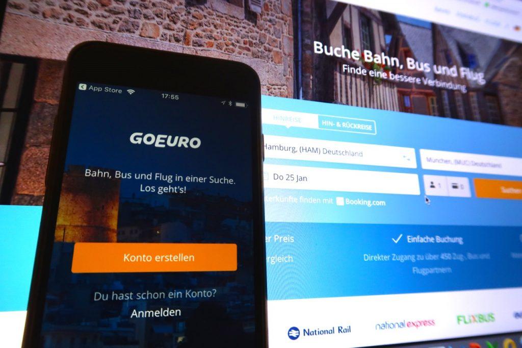 GoEuro buchen per App