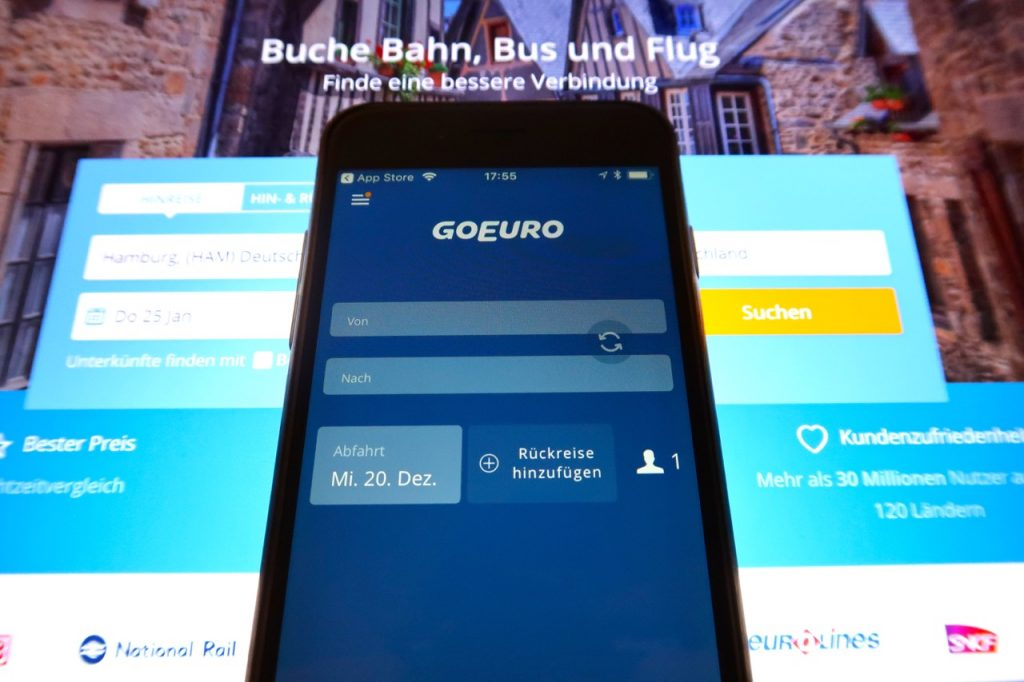 GoEuro booking App