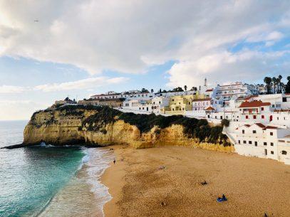 Algarve Blick auf Carvoeiro