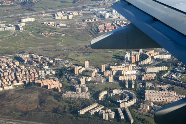 Anflug auf Rom