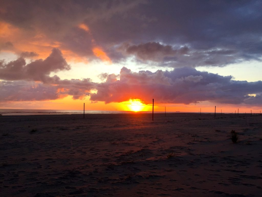 Schon zum Sonnenaufgang auf der Insel unterwegs