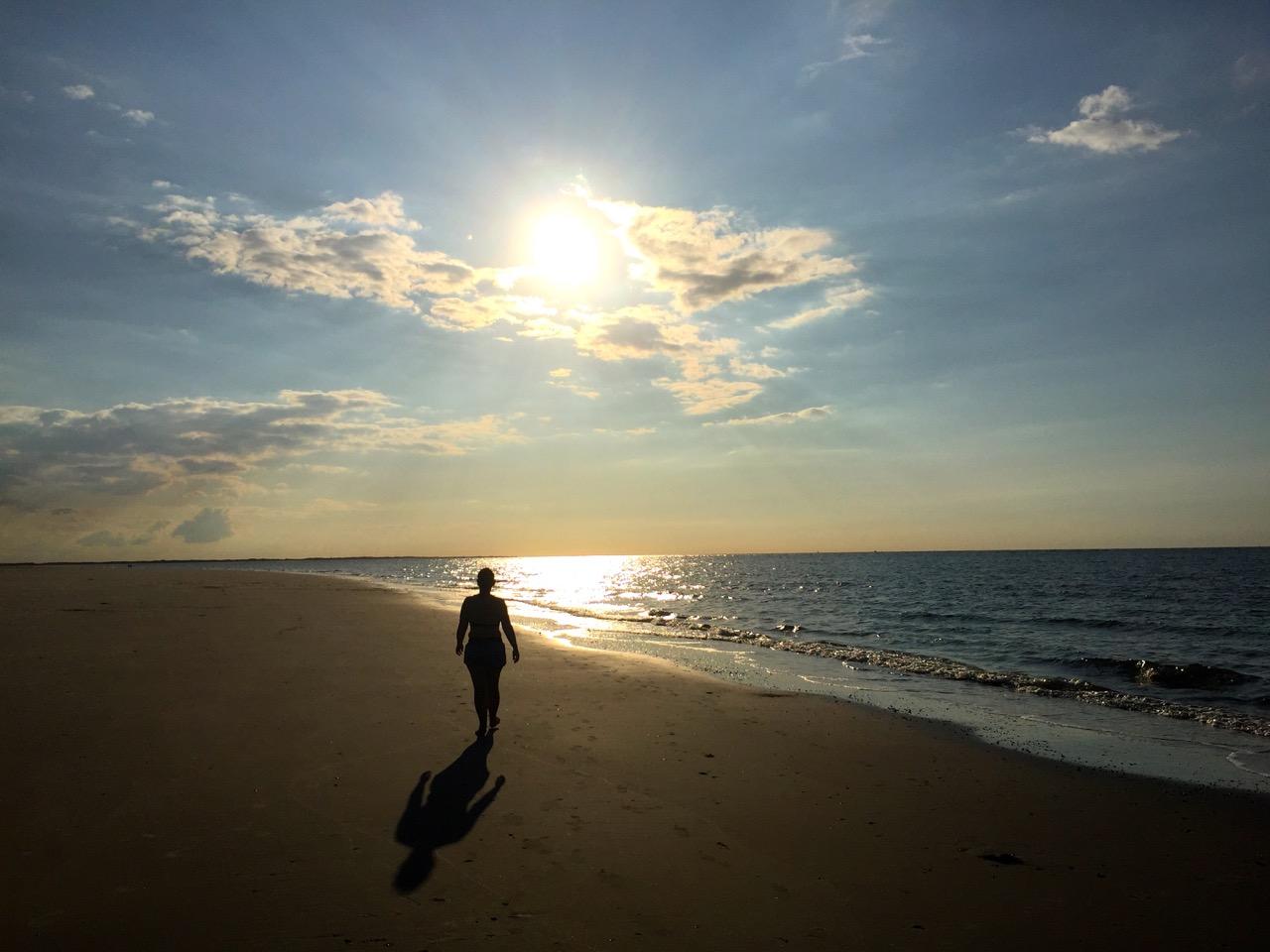 Spiekeroog Urlaub Sonnenuntergang am Meer
