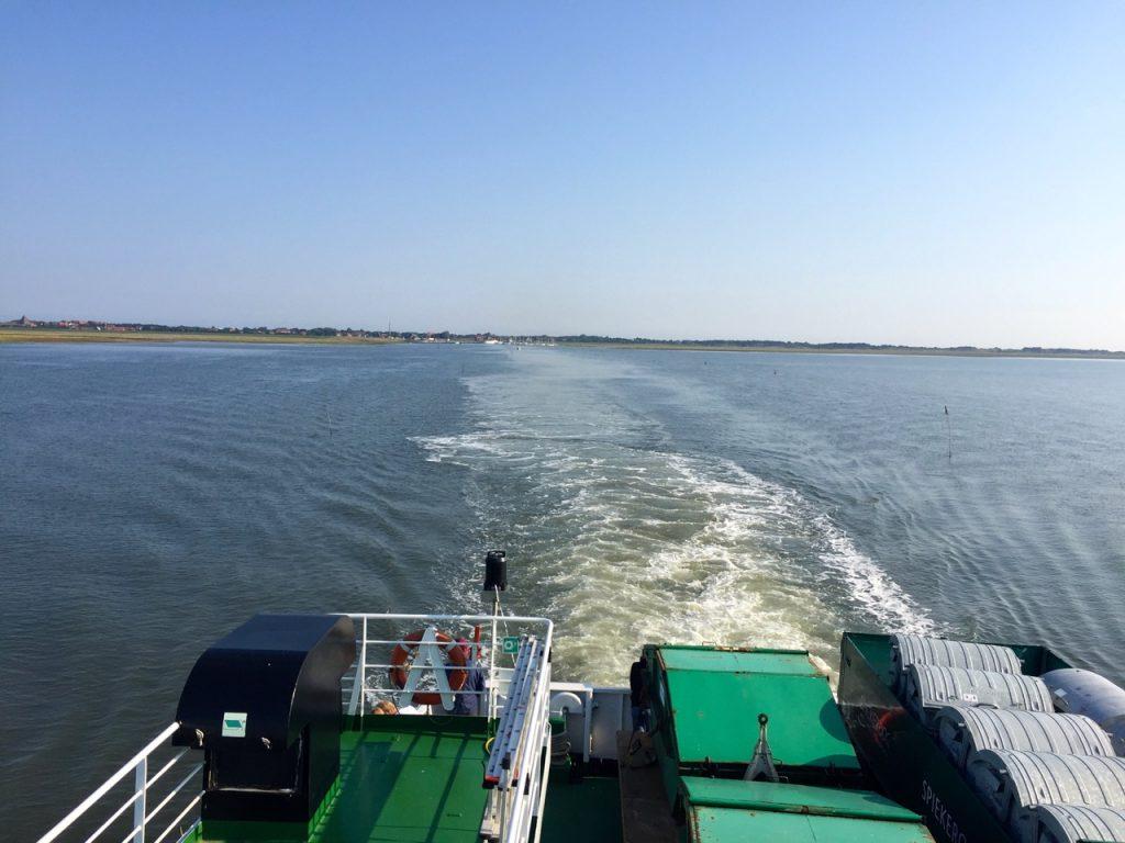 Auf Wiedersehen - Spiekeroog Anreise und Abreise mit dem Schiff