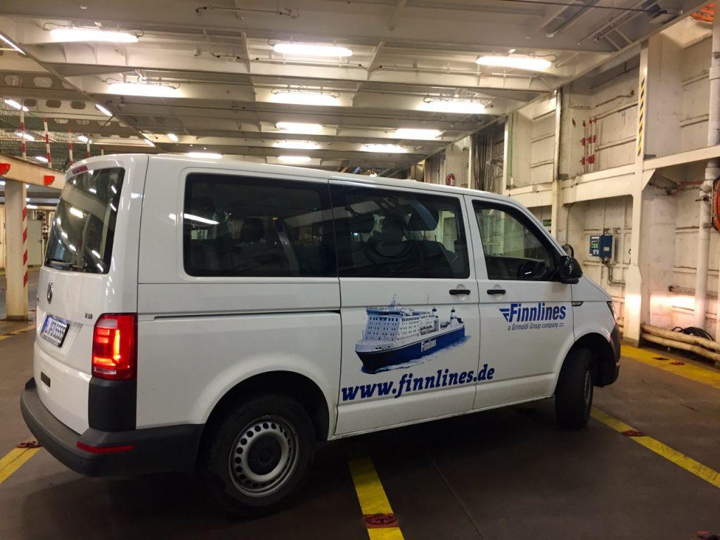 Finnlines: Mit dem Shuttle auf das Schiff