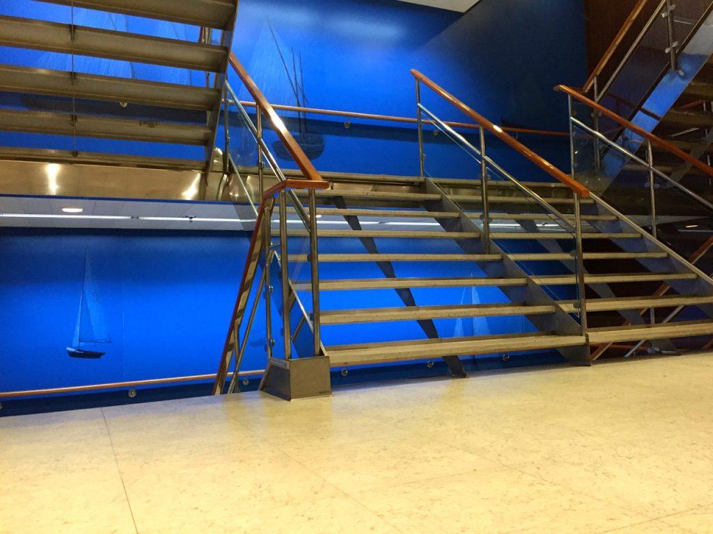 Treppehaus in einem Finnlines Schiff