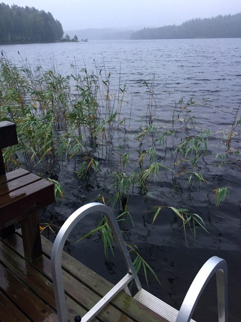 Finnland im September - Nach der Sauna in den See